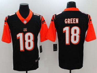 Nike Bengals 18 A.J. Green Black Color Rush Limited Jersey