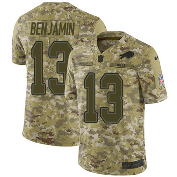 Nike Bills #13 Kelvin Benjamin Camo Youth Stitched NFL Limited 2018 Salute to Service Jersey