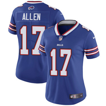 Nike Bills #17 Josh Allen Royal Blue Team Color Women's Stitched NFL Vapor Untouchable Limited Jersey