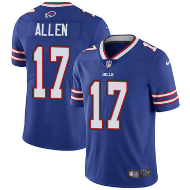 Nike Bills #17 Josh Allen Royal Blue Team Color Youth Stitched NFL Vapor Untouchable Limited Jersey