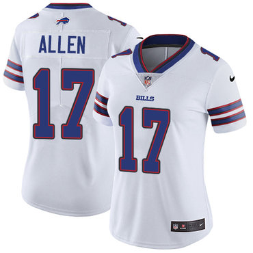 Nike Bills #17 Josh Allen White Women's Stitched NFL Vapor Untouchable Limited Jersey