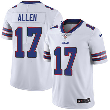 Nike Bills #17 Josh Allen White Youth Stitched NFL Vapor Untouchable Limited Jersey