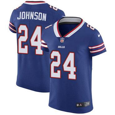 Nike Bills #24 Taron Johnson Royal Blue Team Color Men's Stitched NFL Vapor Untouchable Elite Jersey