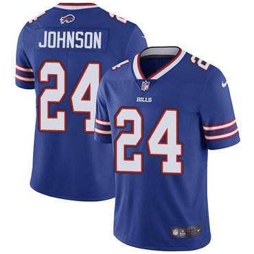 Nike Bills #24 Taron Johnson Royal Blue Team Color Men's Stitched NFL Vapor Untouchable Limited Jersey