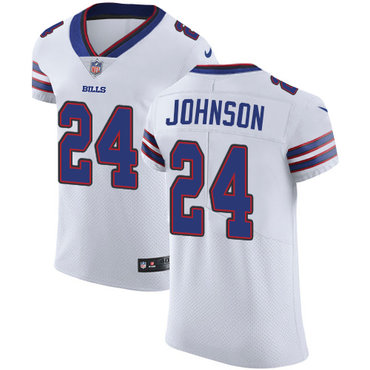 Nike Bills #24 Taron Johnson White Men's Stitched NFL Vapor Untouchable Elite Jersey