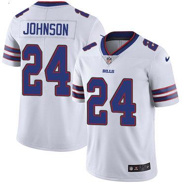 Nike Bills #24 Taron Johnson White Men's Stitched NFL Vapor Untouchable Limited Jersey