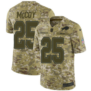 Nike Bills #25 LeSean McCoy Camo Youth Stitched NFL Limited 2018 Salute to Service Jersey