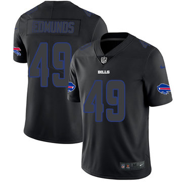 Nike Bills #49 Tremaine Edmunds Black Men's Stitched NFL Limited Rush Impact Jersey