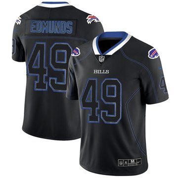 Nike Bills #49 Tremaine Edmunds Lights Out Black Men's Stitched NFL Limited Rush Jersey