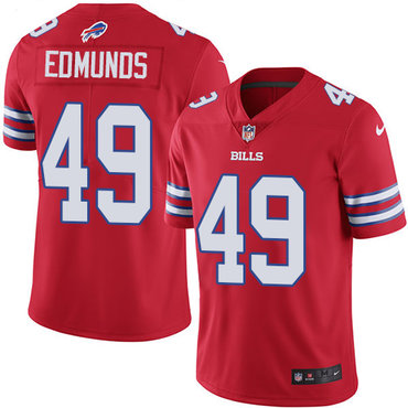 Nike Bills #49 Tremaine Edmunds Red Youth Stitched NFL Limited Rush Jersey
