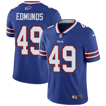 Nike Bills #49 Tremaine Edmunds Royal Blue Team Color Youth Stitched NFL Vapor Untouchable Limited Jersey