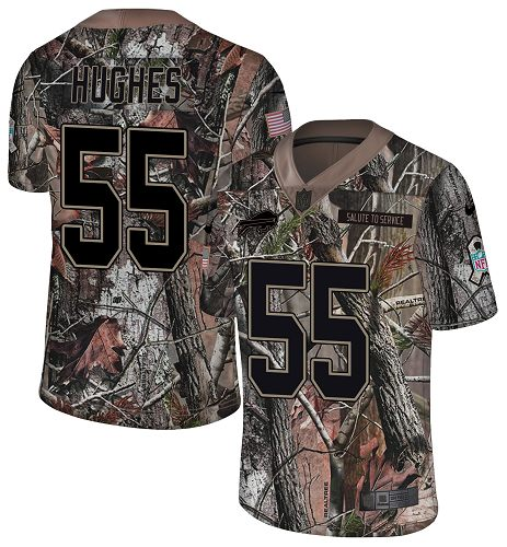 Nike Bills #55 Jerry Hughes Camo Men's Stitched NFL Limited Rush Realtree Jersey