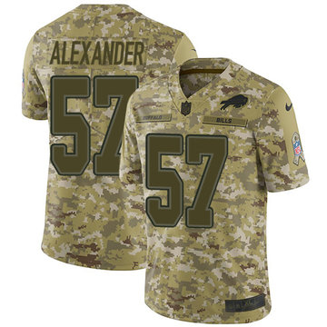 Nike Bills #57 Lorenzo Alexander Camo Youth Stitched NFL Limited 2018 Salute to Service Jersey
