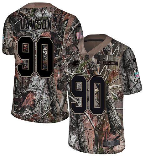 Nike Bills #90 Shaq Lawson Camo Men's Stitched NFL Limited Rush Realtree Jersey