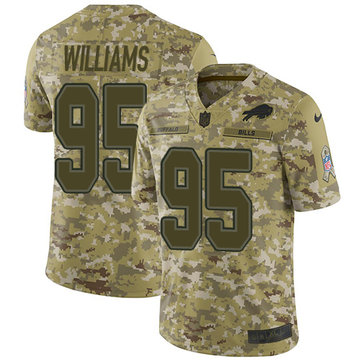 Nike Bills #95 Kyle Williams Camo Youth Stitched NFL Limited 2018 Salute to Service Jersey