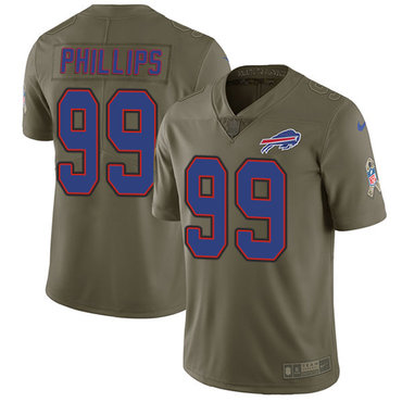 Nike Bills #99 Harrison Phillips Olive Men's Stitched NFL Limited 2017 Salute To Service Jersey