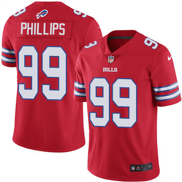 Nike Bills #99 Harrison Phillips Red Men's Stitched NFL Limited Rush Jersey
