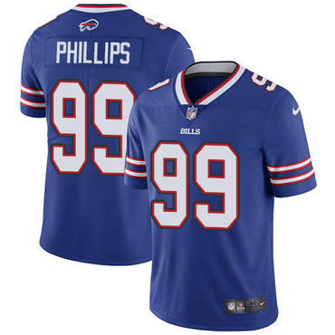 Nike Bills #99 Harrison Phillips Royal Blue Team Color Men's Stitched NFL Vapor Untouchable Limited Jersey