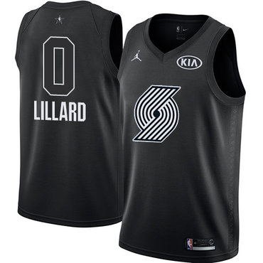 Nike Blazers #0 Damian Lillard Black Youth NBA Jordan Swingman 2018 All-Star Game Jersey