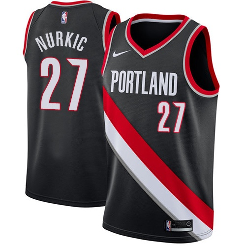 Nike Blazers #27 Jusuf Nurkic Black NBA Swingman Icon Edition Jersey