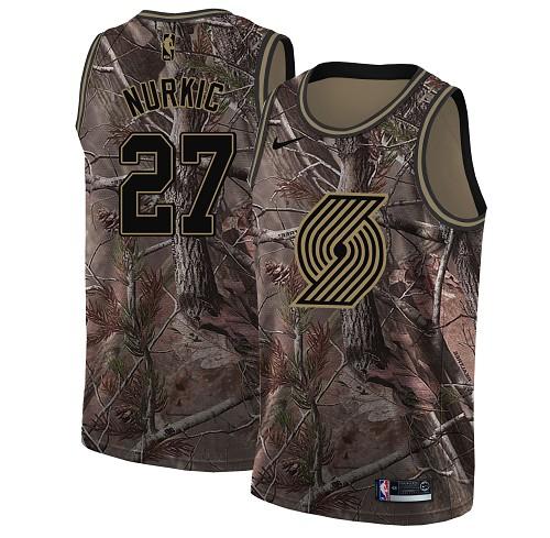 Nike Blazers #27 Jusuf Nurkic Camo NBA Swingman Realtree Collection Jersey