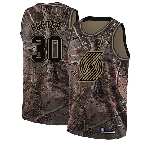 Nike Blazers #30 Terry Porter Camo NBA Swingman Realtree Collection Jersey