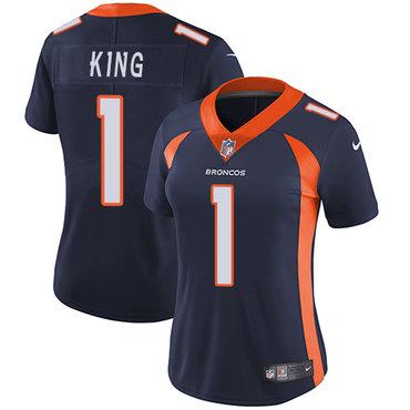 Nike Broncos #1 Marquette King Blue Alternate Women's Stitched NFL Vapor Untouchable Limited Jersey