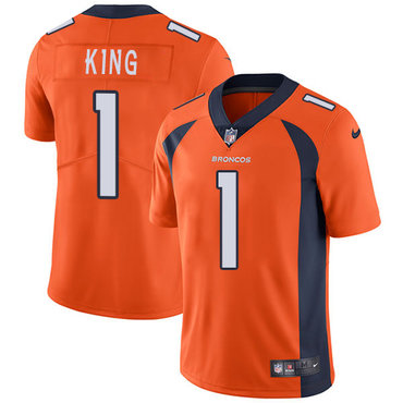 Nike Broncos #1 Marquette King Orange Team Color Youth Stitched NFL Vapor Untouchable Limited Jersey
