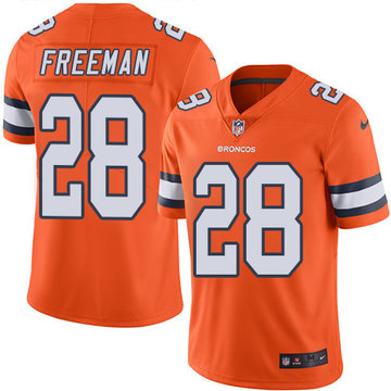 Nike Broncos #28 Royce Freeman Orange Men's Stitched NFL Limited Rush Jersey