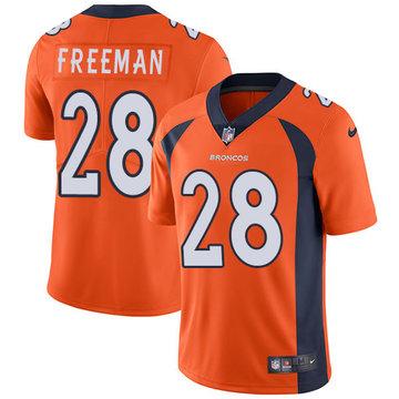 Nike Broncos #28 Royce Freeman Orange Team Color Men's Stitched NFL Vapor Untouchable Limited Jersey