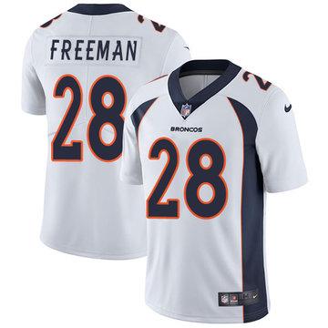 Nike Broncos #28 Royce Freeman White Men's Stitched NFL Vapor Untouchable Limited Jersey