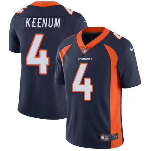 Nike Broncos #4 Case Keenum Blue Alternate Youth Stitched NFL Vapor Untouchable Limited Jersey