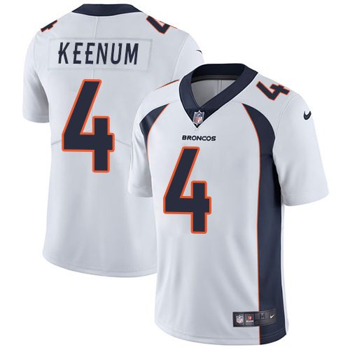 Nike Broncos #4 Case Keenum White Youth Stitched NFL Vapor Untouchable Limited Jersey