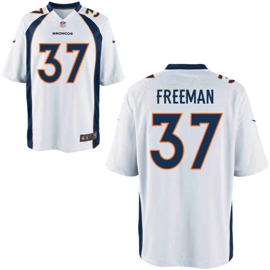 Nike Broncos 37 Royce Freeman White Elite Jersey