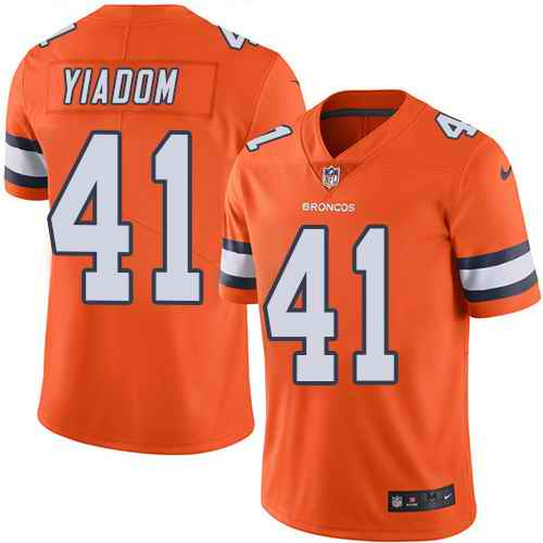 Nike Broncos 41 Isaac Yiadom Orange Color Rush Limited Jersey