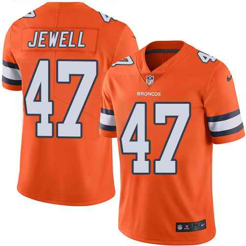 Nike Broncos 47 Josey Jewell Orange Color Rush Limited Jersey