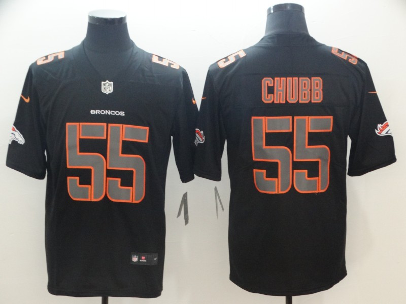 Nike Broncos 55 Bradley Chubb Black Impact Rush Limited Jersey