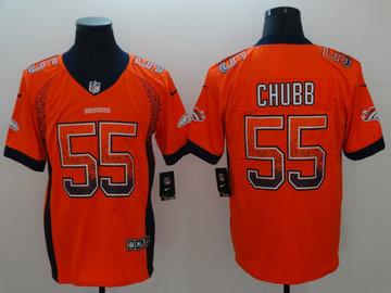Nike Broncos 55 Bradley Chubb Orange Drift Fashion Limited Jersey