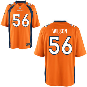 Nike Broncos 56 Al Wilson Orange Elite Jersey