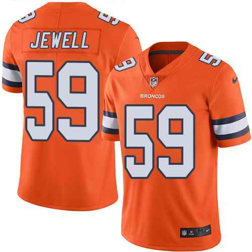Nike Broncos 59 Josey Jewell Orange Color Rush Limited Jersey