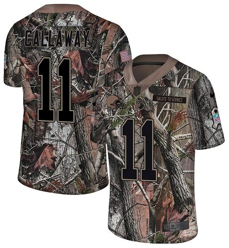 Nike Browns #11 Antonio Callaway Camo Men's Stitched NFL Limited Rush Realtree Jersey