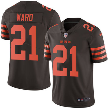 Nike Browns #21 Denzel Ward Brown Men's Stitched NFL Limited Rush Jersey