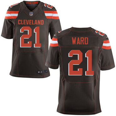 Nike Browns #21 Denzel Ward Brown Team Color Men's Stitched NFL Elite Jersey