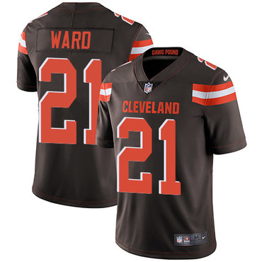 Nike Browns #21 Denzel Ward Brown Team Color Men's Stitched NFL Vapor Untouchable Limited Jersey