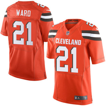 Nike Browns #21 Denzel Ward Orange Alternate Men's Stitched NFL Elite Jersey