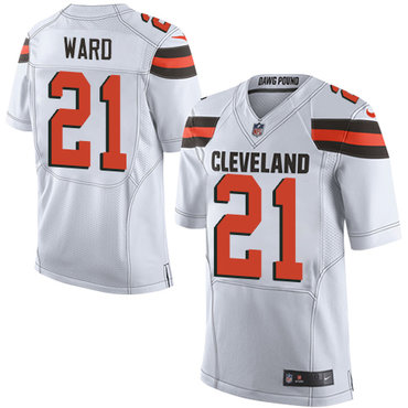 Nike Browns #21 Denzel Ward White Men's Stitched NFL Elite Jersey