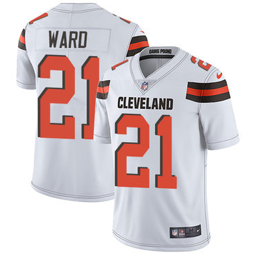 Nike Browns #21 Denzel Ward White Men's Stitched NFL Vapor Untouchable Limited Jersey