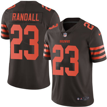 Nike Browns #23 Damarious Randall Brown Men's Stitched NFL Limited Rush Jersey