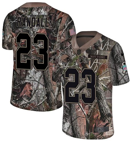 Nike Browns #23 Damarious Randall Camo Men's Stitched NFL Limited Rush Realtree Jersey