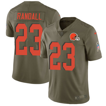 Nike Browns #23 Damarious Randall Olive Youth Stitched NFL Limited 2017 Salute to Service Jersey